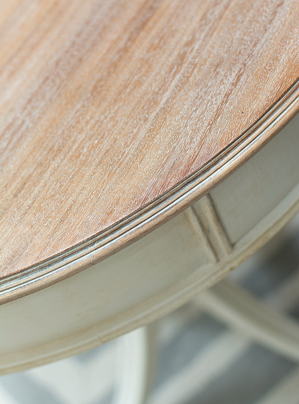 drum table painted white whitewashed top how to 2 64 of 65