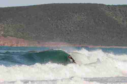 Chris Del Moro surfing in Italy