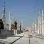 On the roof of the Duomo of Milan Italy