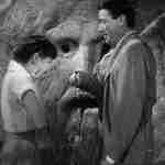 Hepburn and Peck at the Bocca della Verita in Roman Holiday