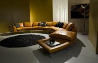 Add-Look Luxury & Modern Round Leather Sofa | Shop Online ...