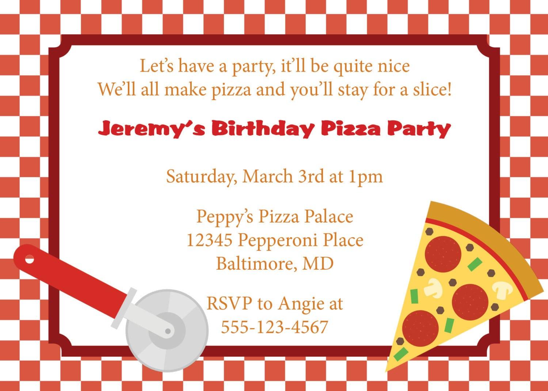 Amazing Pizza Party Invitations Mickey Mouse Invitations Templates ...