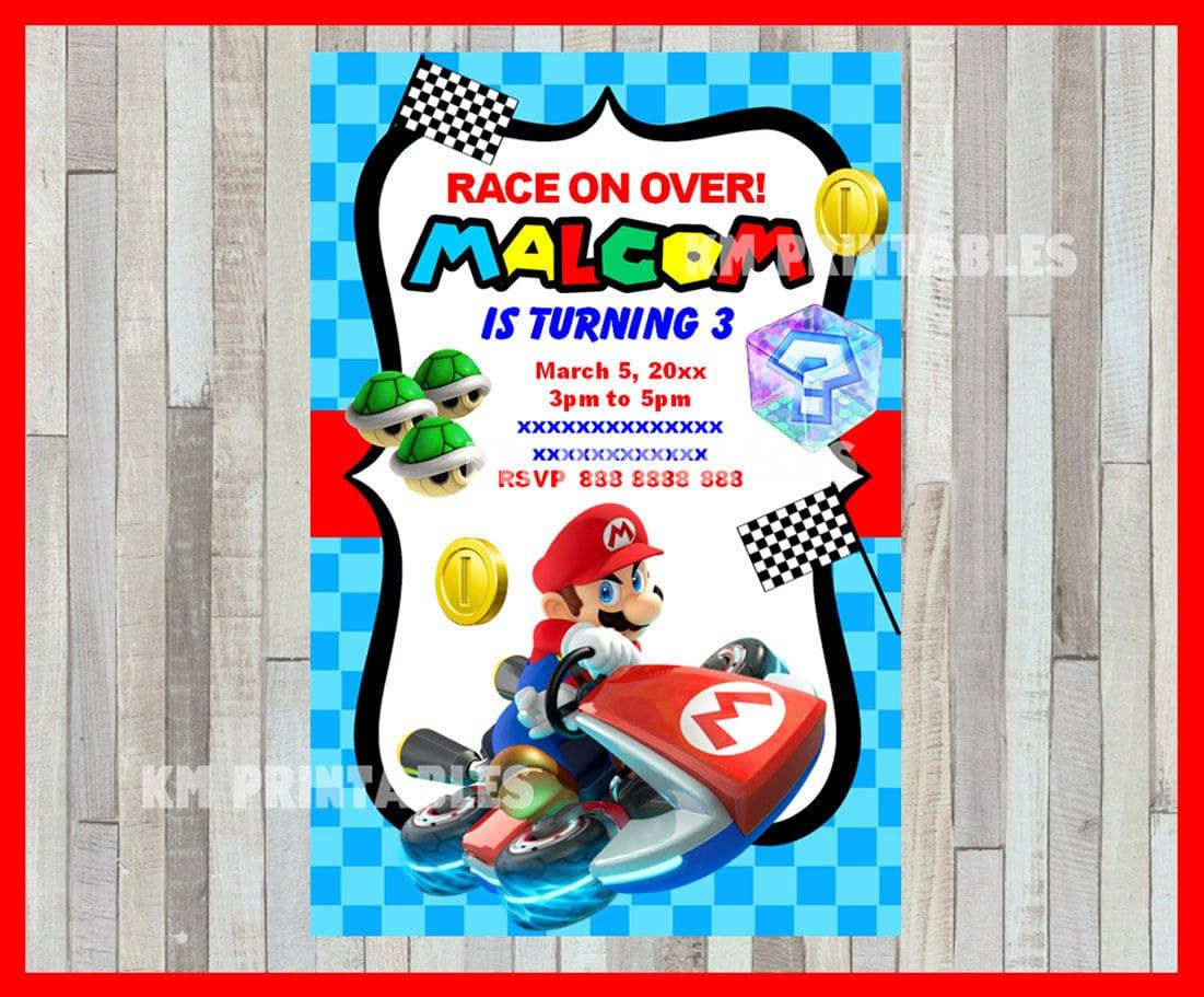 Beautiful Mario Birthday Party Invitations Cobypiccom Ivoiregion