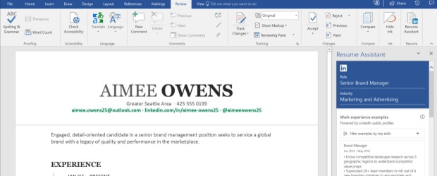 LinkedIn \u0027Resumé Assistant\u0027 rolling out on Microsoft Word IT Business