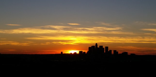 Los Angeles Skyline from the hill