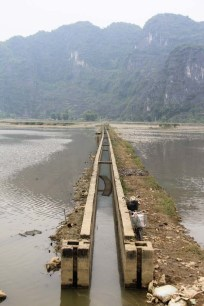 An irrigation system used in the rice paddy fields on Vietnam.