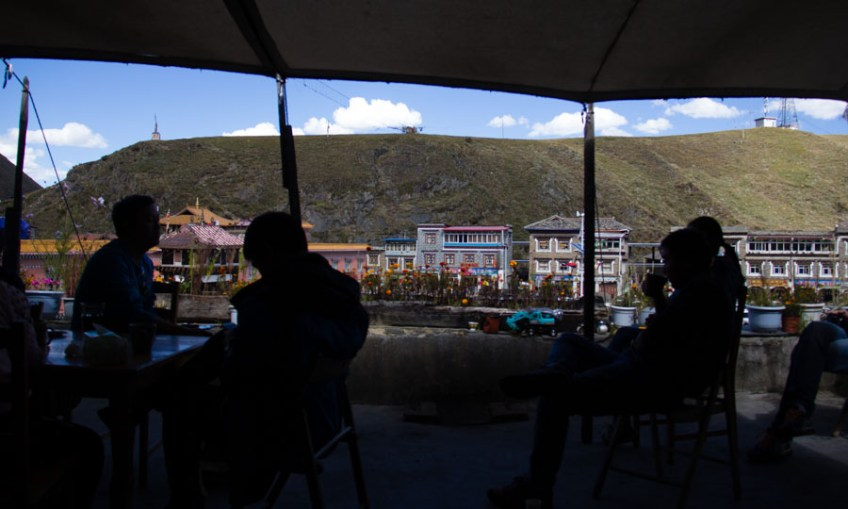 From the Kampa Cafe patio in Tagong, Sichuan, China.
