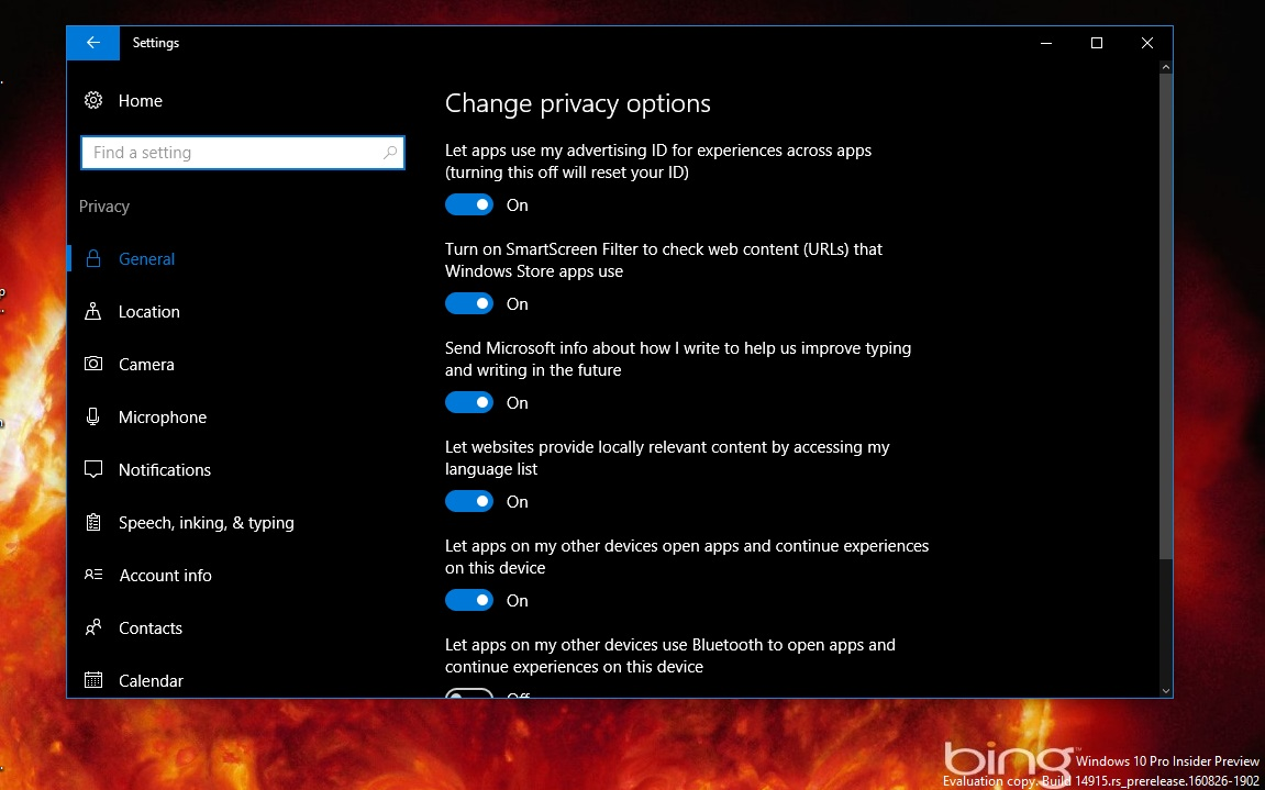 How to fix slow running windows 10 200 faster pc for Window privacy options