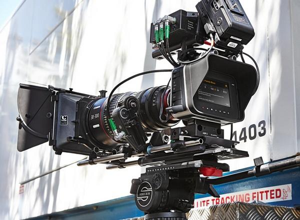 Blackmagic Production Camera 4K Digital Film Camera in use