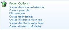 Power Options Main
