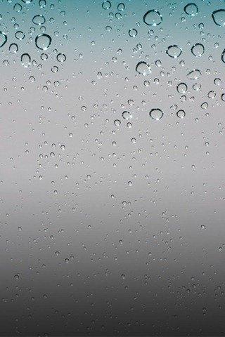 Default Rain Drops iPhone OS 4 Wallpaper