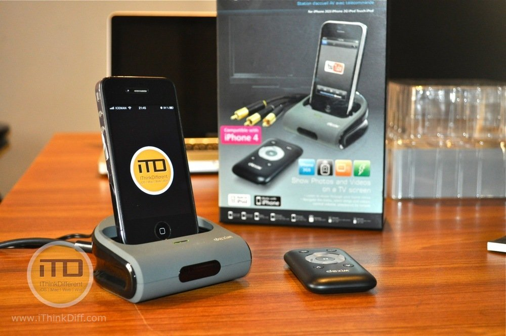 Dexim AV Dock Station For iPhone 4/3GS, iPod touch & iPod Nano [REVIEW]