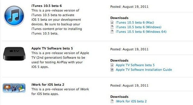 Apple Release iOS 5 Beta 6 for iPhone, iPod Touch and iPad