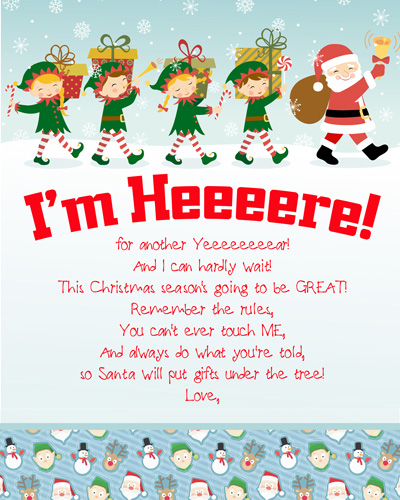 Arrival Letters Complete Index of FREE Elf on the Shelf Letters