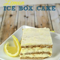 No Bake Desserts: Easy Lemon Ice Box Cake