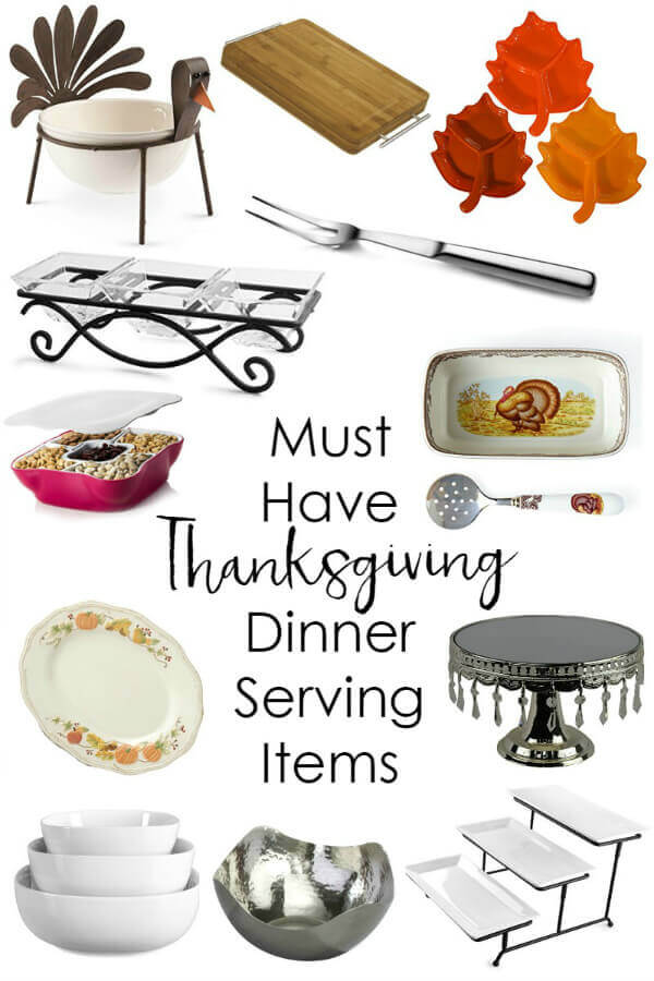 Thanksgiving Dinner Serving Pieces - It Is a Keeper