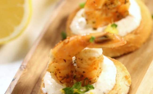Easy Shrimp Appetizers Creamy Shrimp Bruschetta It Is A Keeper