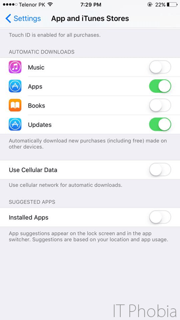 iOS 9 Battery Drain App and iTunes Stores