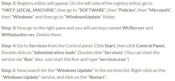 Windows update error 80072ee2 steps