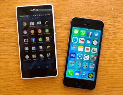 sony xperia z5 vs iphone 6 special features