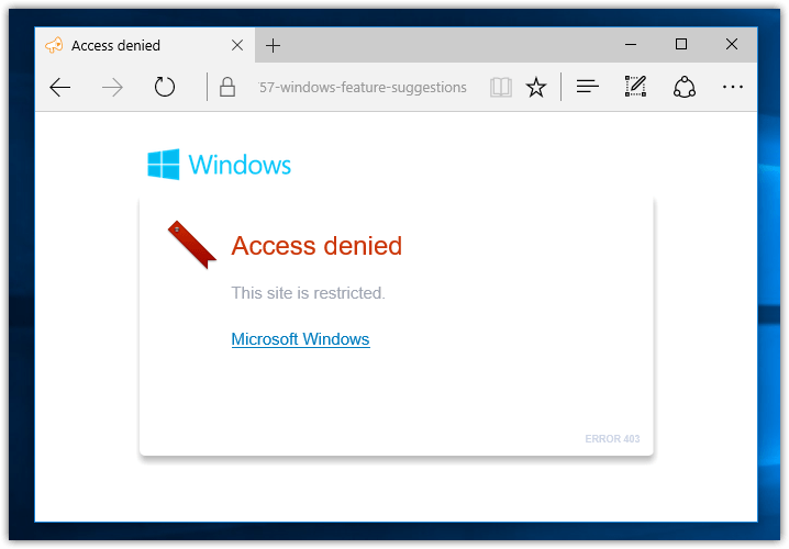Windows feature suggestion