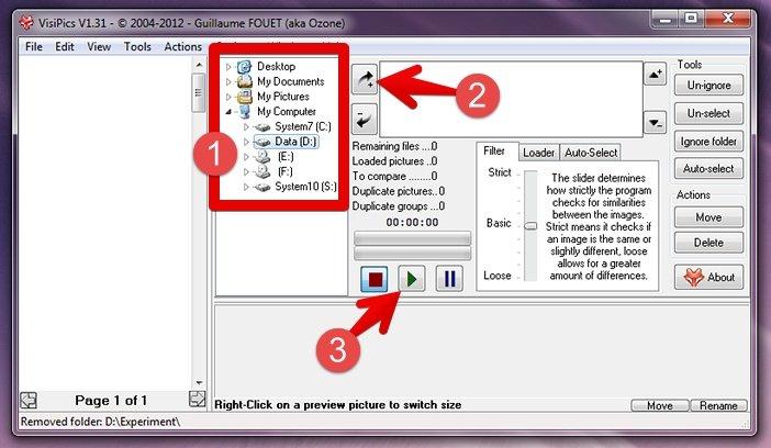 Программа VisiPics для нахождения дубликатов фото