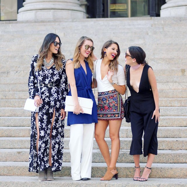 NYFW street style, girl gang, Sex and the City, Community over competition