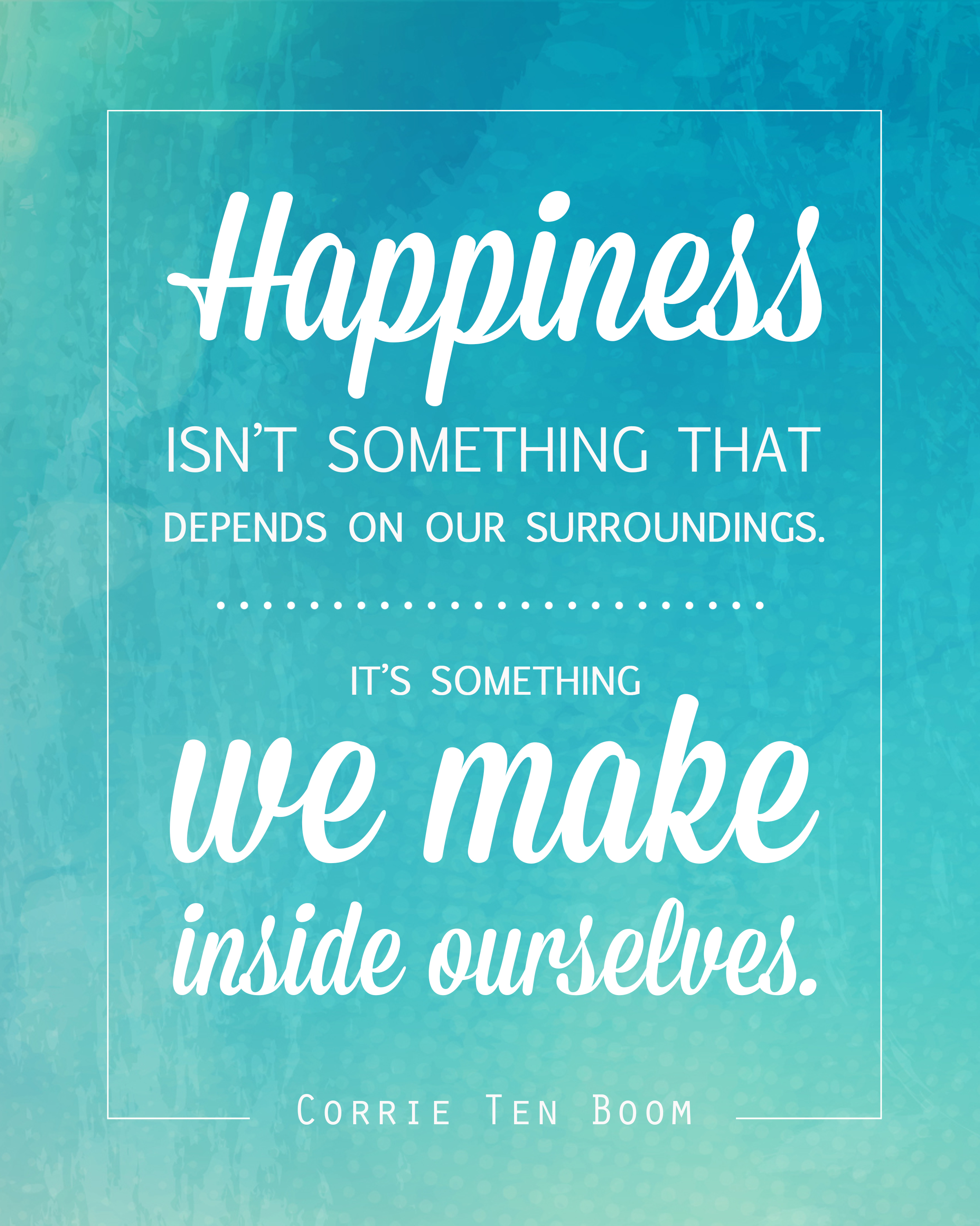 Lds Quote Wallpaper Free Quote Printable Of Corrie Ten Boom Quote About Happiness
