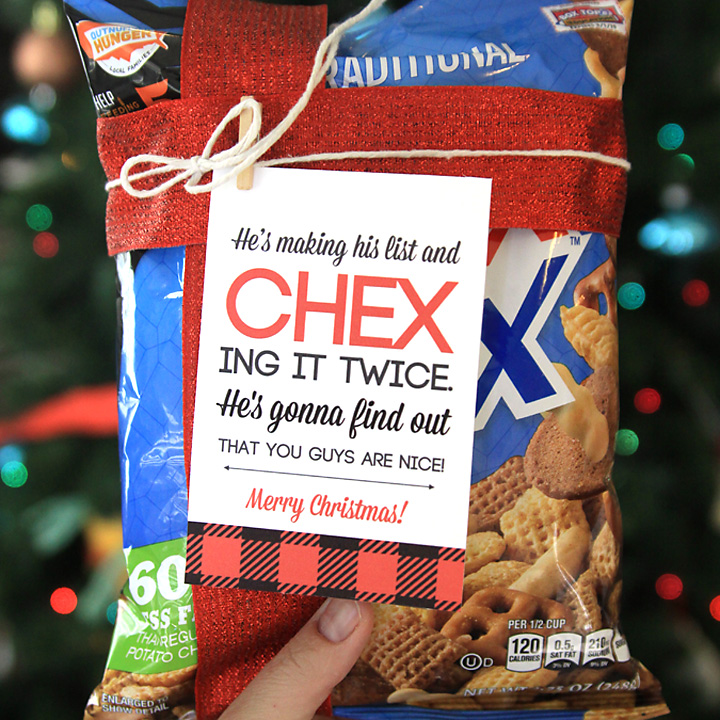 easy neighbor gift idea CHEX mix + cute tag - It\u0027s Always Autumn