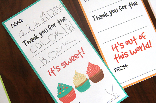 fill in the blank thank you note printables for kids - It\u0027s Always