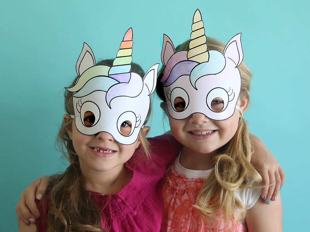 unicorn masks to print and color {free printable} - It\u0027s Always Autumn