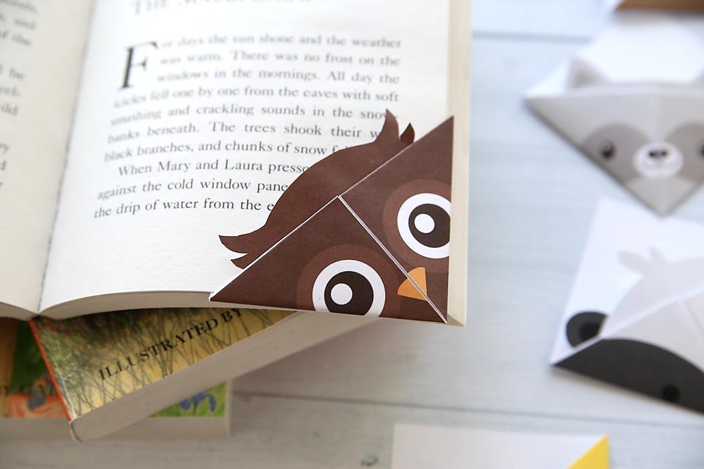 DIY woodland animals origami bookmarks {print + fold} - It\u0027s Always