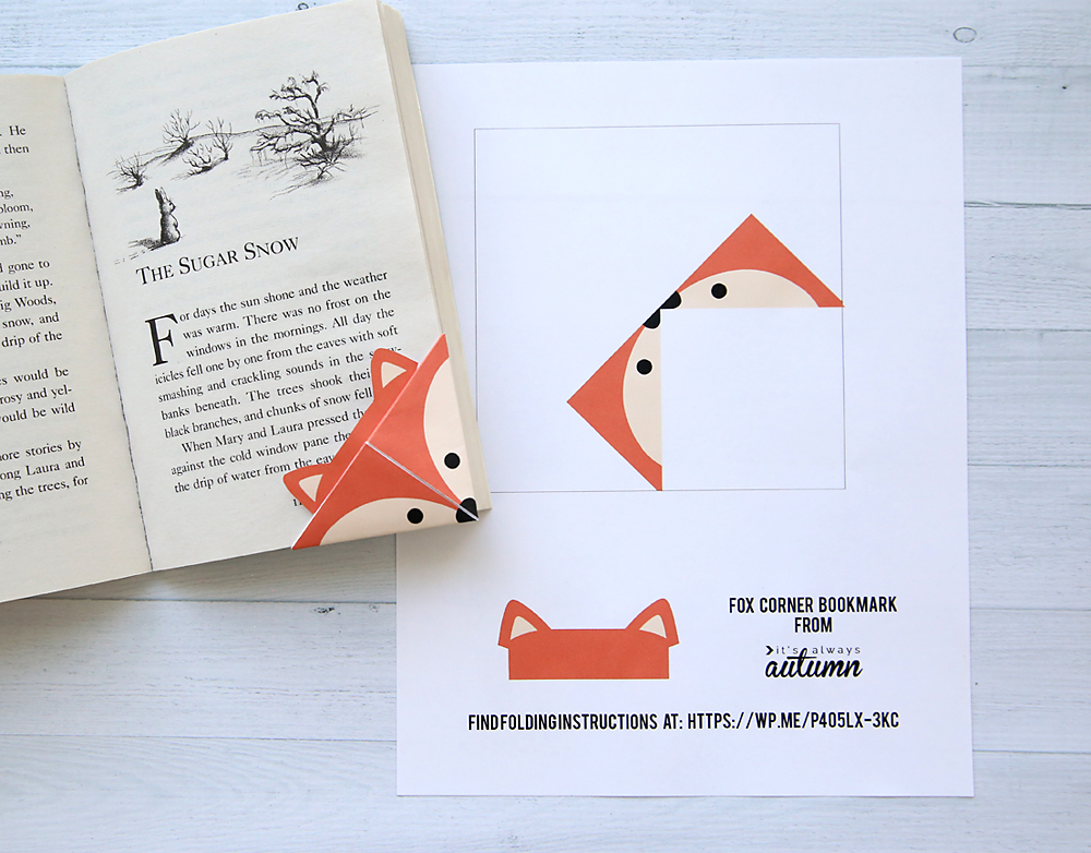 DIY woodland animals origami bookmarks {print + fold} - It\u0027s Always
