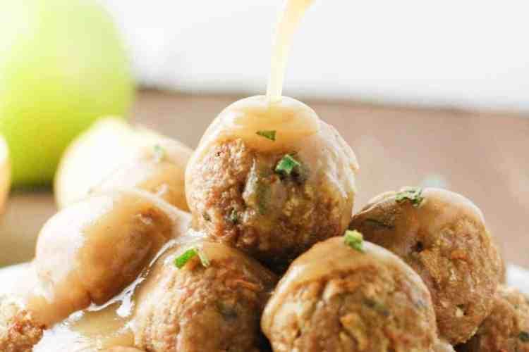 Sage and Apple Turkey Meatballs