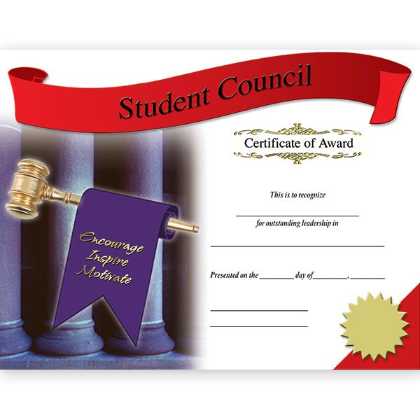 Photo Certificates - Student Council Anderson\u0027s - student council certificates