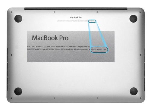 MacBook Pro Seriennummer