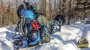 HEAVY packs full of gear for a wild weekend in the Dix Mountain Wilderness, Adirondacks, NY 1.25.2015