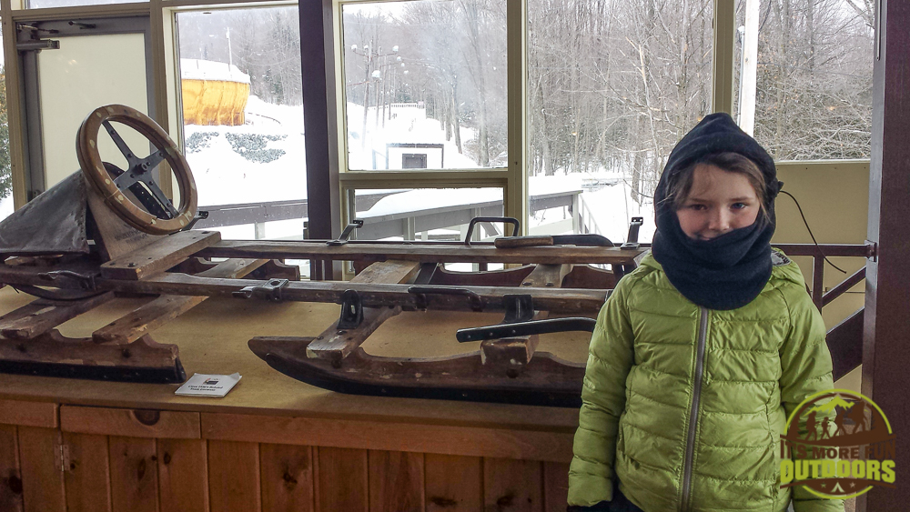 A sled from days gone by:assing time while we wait to ride the Bobsled: The Olympic Bobsled Museum 02.14.15 LAKE PLACID, NY