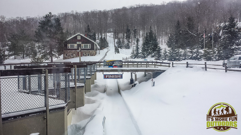 I don't think this track is used anymore - definitely not today! passing time while we wait to ride the Bobsled: The Olympic Bobsled Museum 02.14.15 LAKE PLACID, NY