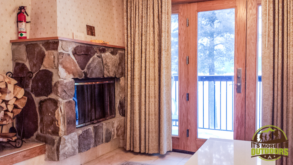 02.14.15 The beautiful Whiteface Suite at the Golden Arrow Lakeside Resort in Lake Placid, NY. Complete with a wood burning fireplace and balcony overlooking Mirror Lake. Can't wait to go there again!