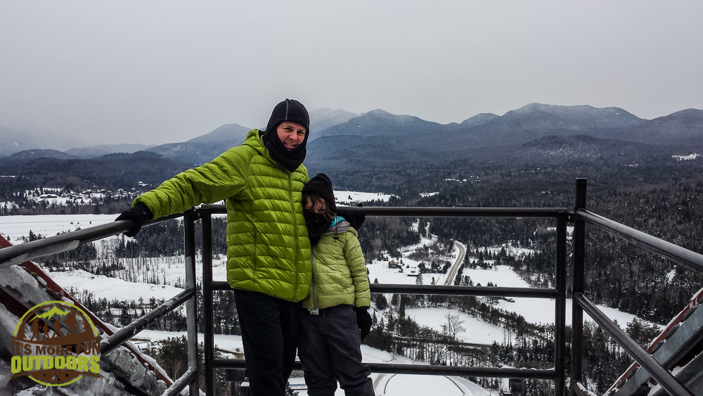 View from the top of the Olympic Ski Jump, Lake Placid, NY 2.14.15