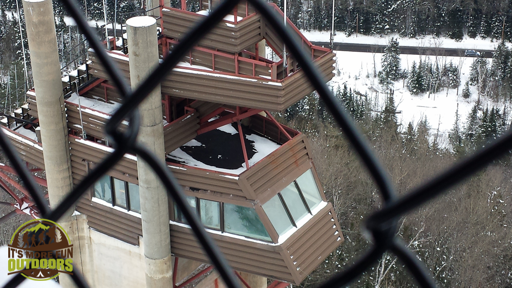 Looking down at the smaller of the two ski towers. Exploring the Olympic Ski Jump, Lake Placid, NY 2.14.15
