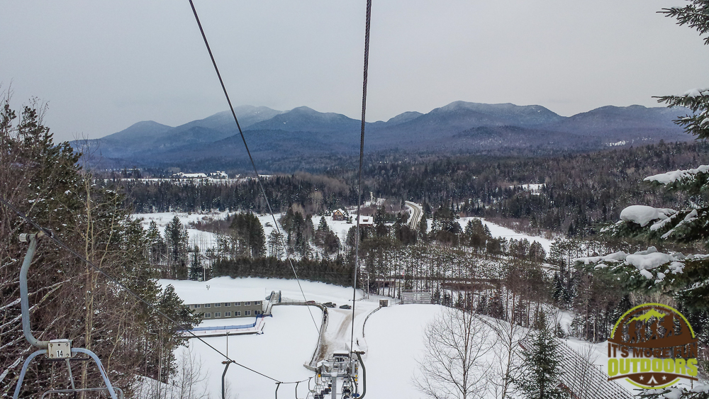 Taking the chairlift back down from the Olympic Ski Jump, Lake Placid, NY 2.14.15