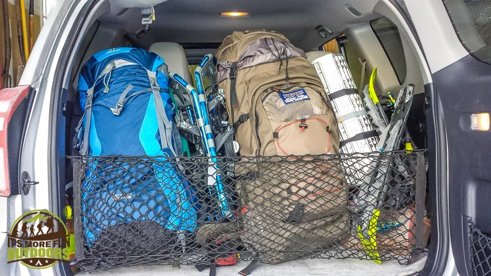 03.07.15: Loaded up and ready for another adventure! Last-minute overnight in a lean to at ADK's Heart Lake Wilderness Campground.