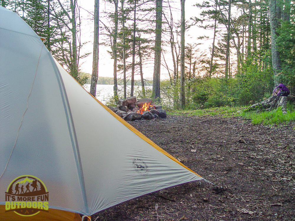 Campsite #1 on Horseshoe Lake. A nice plan B for a Saturday evening arrival in mid-May.