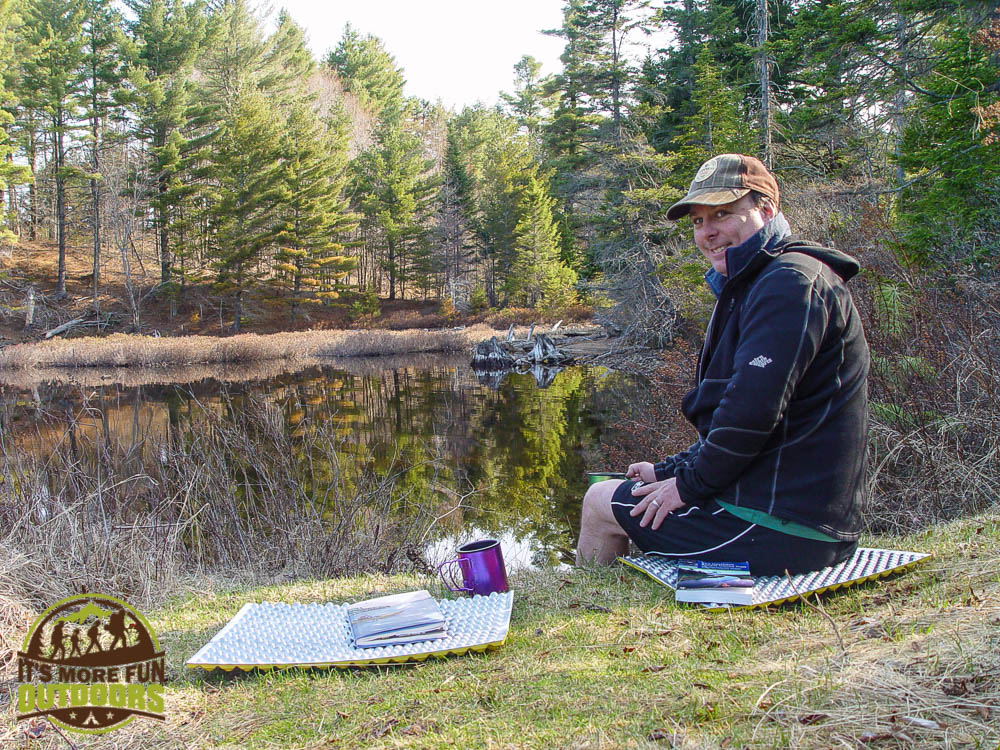 Our breakfast nook on campsite 13, Low's Lake, Bog River Flow, Adirondacks, NY May 2015