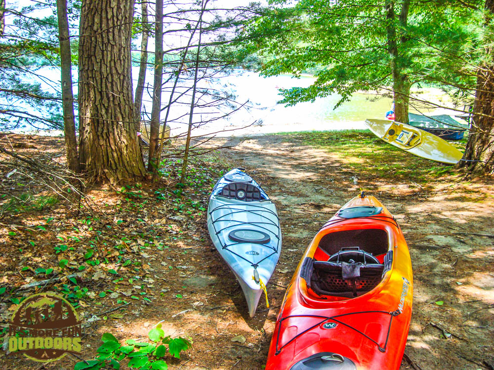 Canoe access - very easy. Paddling on Moreau Lake. Small, but clean and with a lot to keep the kiddos engaged. Campfire Breakfast. Car Camping, hiking, kayaking, canoeing at Moreau Lake State Park.
