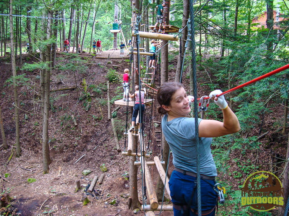 One of the ziplines!!! Adirondack Extreme Treetop Obstacle Zipline Course in Bolton Landing/Lake George area,  upstate NY!