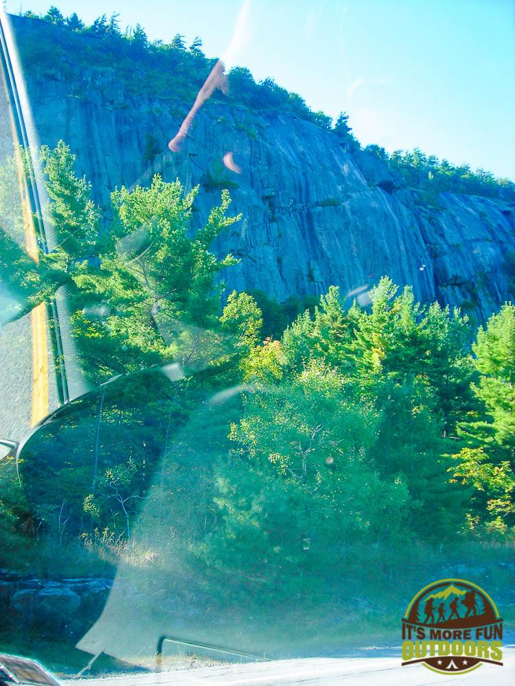 First sight of the massive cliffs! 9/6/2009: Poke-O-Moonshine Hike, Adirondacks, NY