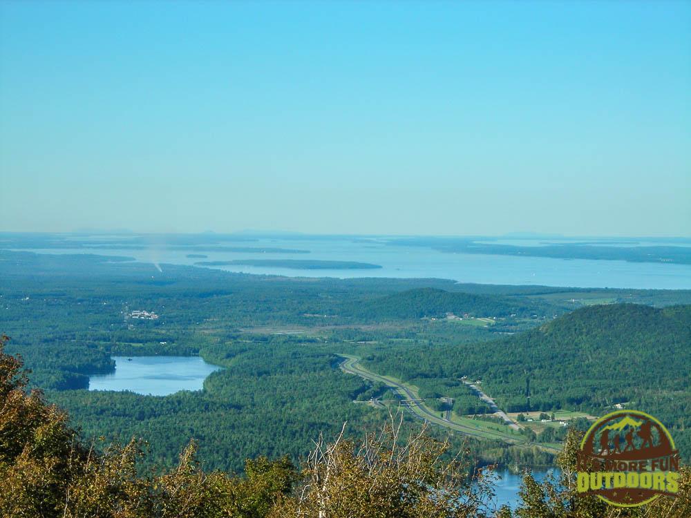 Summit views! Overlooking Lake Champlain. 9/6/2009: Poke-O-Moonshine Hike, Adirondacks, NY